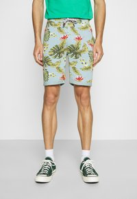 INDICODE JEANS - FLOWERS - Shorts - blue wave - 0
