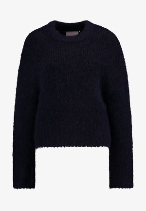 TESSA SHORT CREW NECK - Strikpullover /Striktrøjer - night sky
