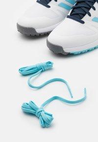 adidas Golf - Golf shoes - footwear white/haze sky/navy - 5