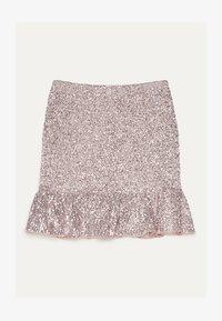 Bershka - MIT GLITZER  - A-line skirt - pink - 4