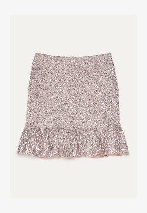 MIT GLITZER  - Áčková sukně - pink