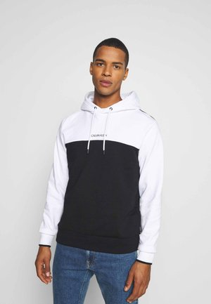 COLOR BLOCK HOODIE - Hoodie - white