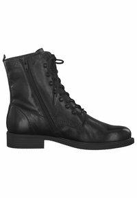 Tamaris - STIEFELETTE - Kovbojské/motorkářské boty - black - 4