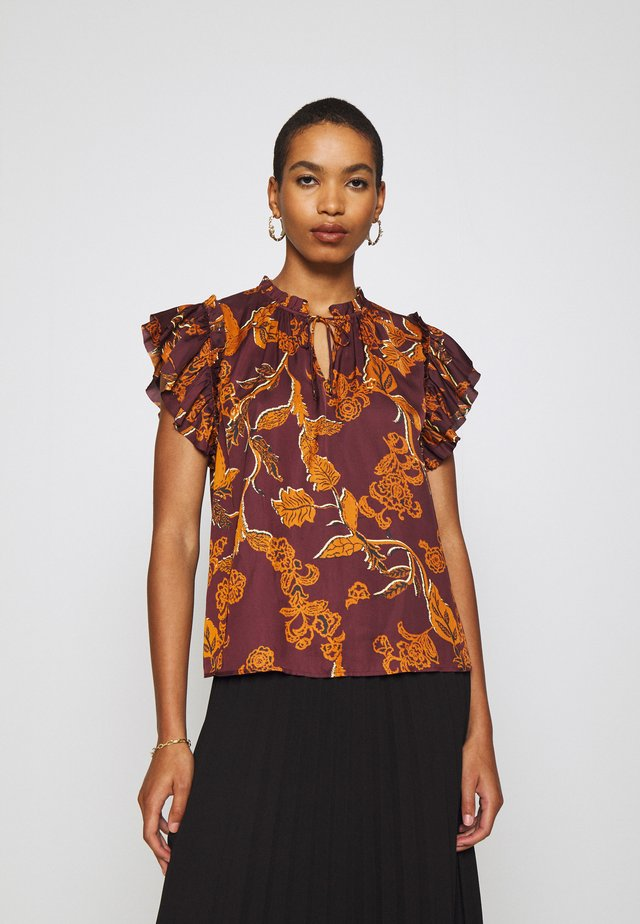 TEA AFRICA BLOUSE  - Pusero - purple
