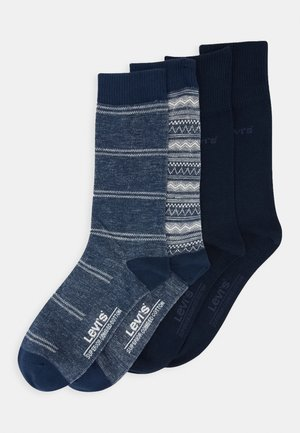GIFTBOX REG CUT FAIR ISLE 4 PACK - Ponožky - blue