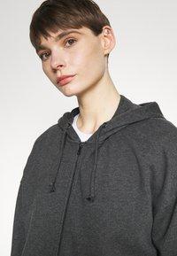 Even&Odd - Oversized Hooded Sweat Jacket - Zip-up hoodie - mottled dark grey - 3