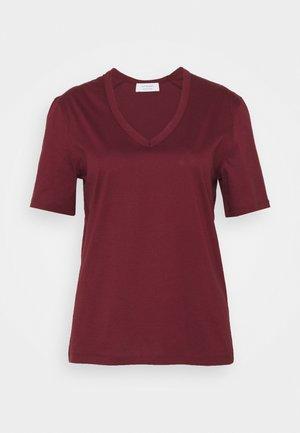 NUDMEG - Basic T-shirt - bordeaux