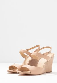 Anna Field - LEATHER HEELED SANDALS - High heeled sandals - nude - 4