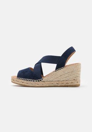 ANIA - Sandály na platformě - blau