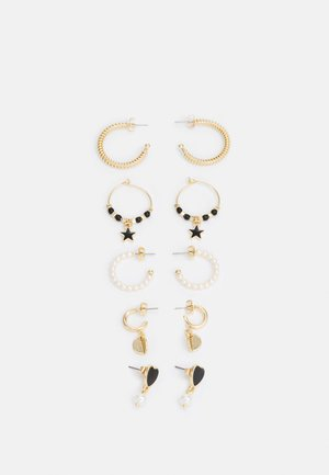 FGANICK EARRINGS 5 PACK - Pendientes - gold-coloured/black