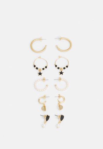 FGANICK EARRINGS 5 PACK - Earrings - gold-coloured/black