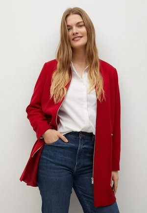 SILVIA - Short coat - rouge