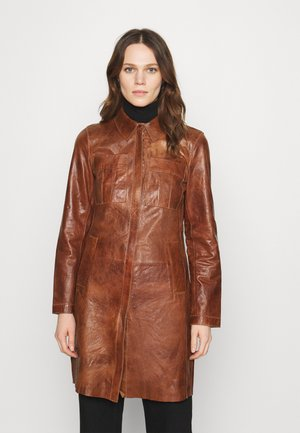 FREJA - Short coat - cognac