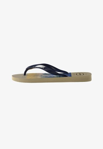 HYPE - Pool shoes - beige, navy blue