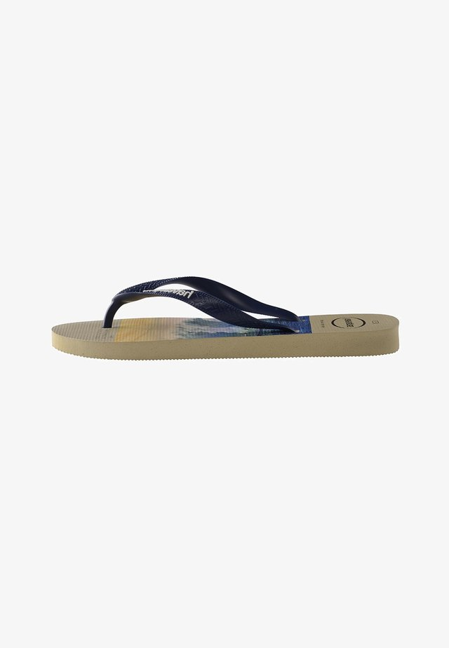 HYPE - Tongs - beige, navy blue