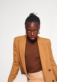 Selected Femme Tall - SLFCOSTA ROLLNECK TALL - Jumper - smoked - 4