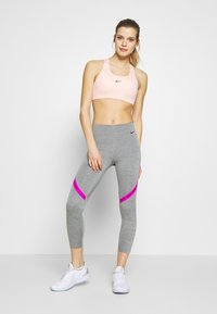 Nike Performance - ONE CROP - Tights - iron grey/fire pink/black - 1