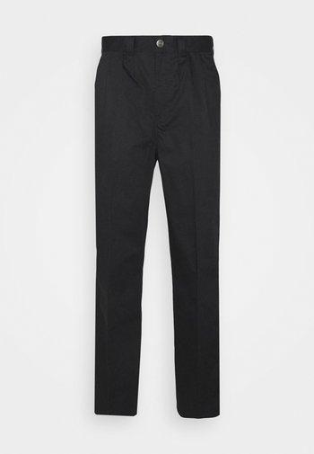 OSCARVILLE PLEATED PANT - Spodnie materiałowe - black