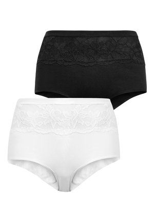 COTTON SHAPING KNICKERS 2 PACK - Briefs - black
