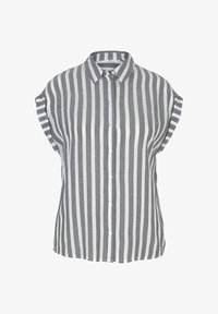 offwhite navy vertical stripe