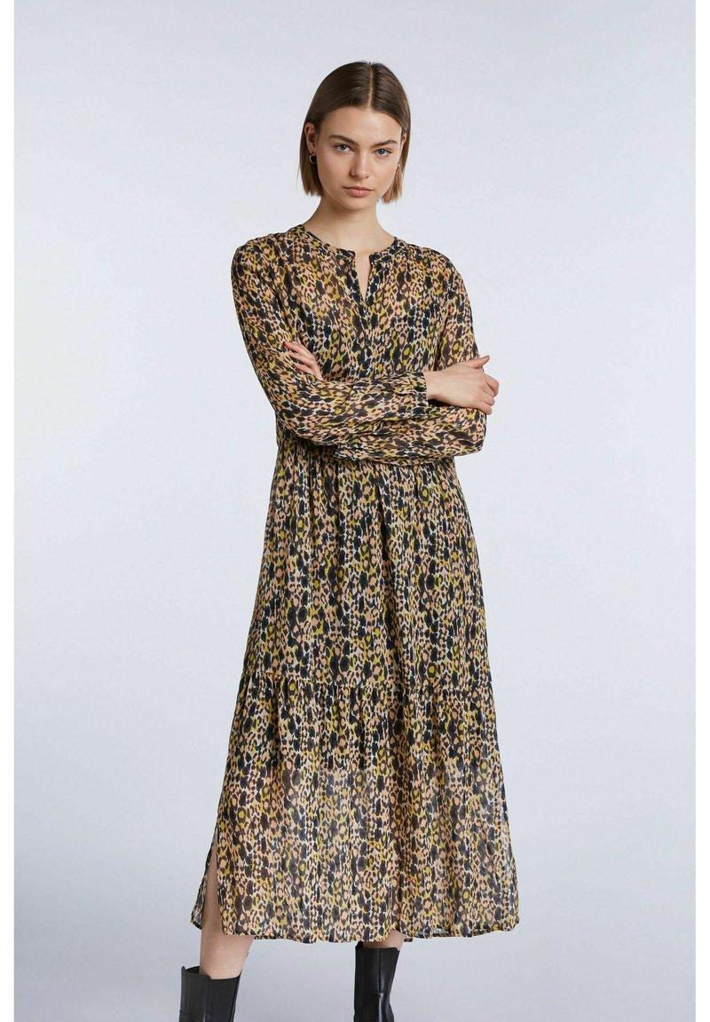 SET - Shirt dress - apricot black