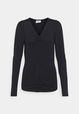 VMNEXT 3/4  V NECK - Camiseta de manga larga - black