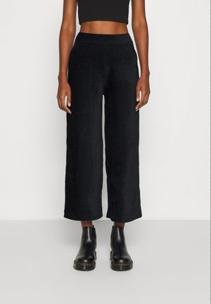 Wide Leg Trousers - Pantaloni - black