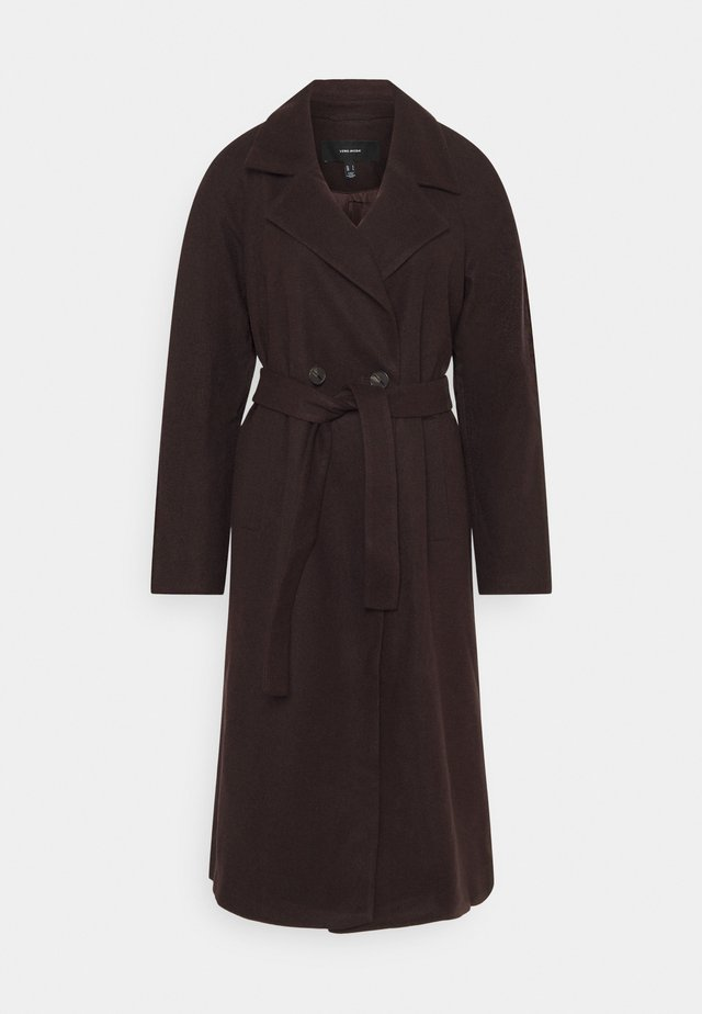VMMERLEMAY LONG PETITE - Cappotto classico - chocolate plum