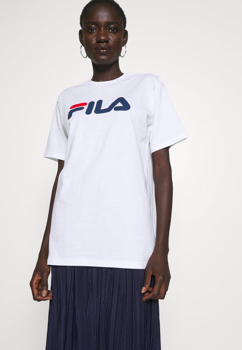 Fila Tall - PURE TEE - Print T-shirt -  bright white