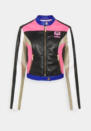 BIKER JACKET - Faux leather jacket - nero