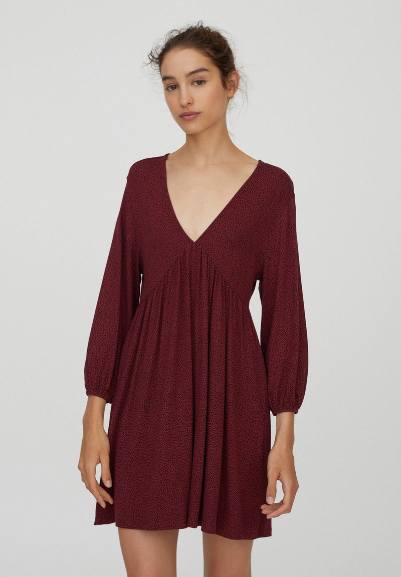 PULL&BEAR - Day dress - bordeaux