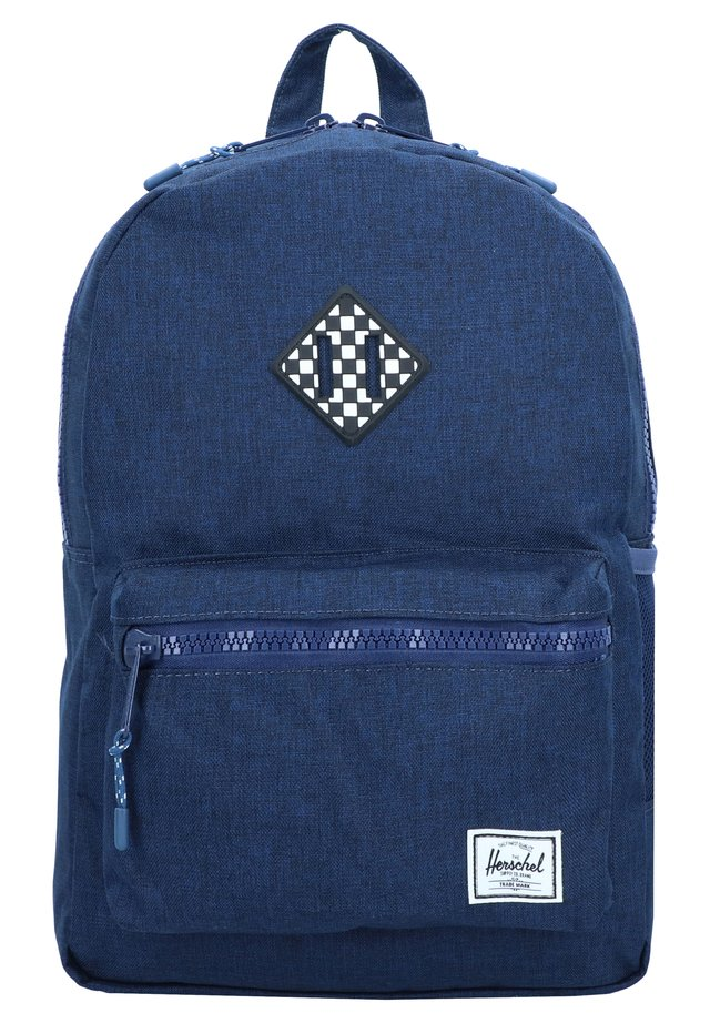 HERITAGE YOUTH - Rucksack - medieval blue crosshatch checkerboard