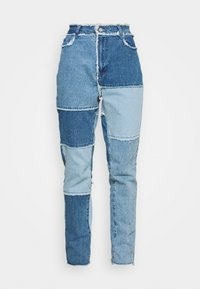 Missguided - FRAY HEM PATCHED - Straight leg jeans - blue - 4