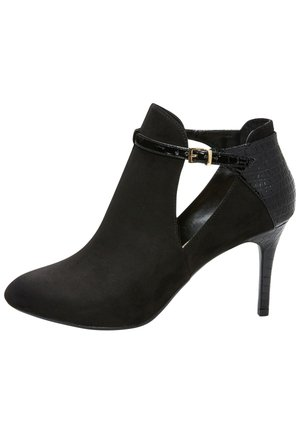 DOGTOOTH FOREVER COMFORT - High heeled ankle boots - mottled black