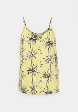 ONLNOVA LUX BUTTON SINGLET - Top - misted yellow