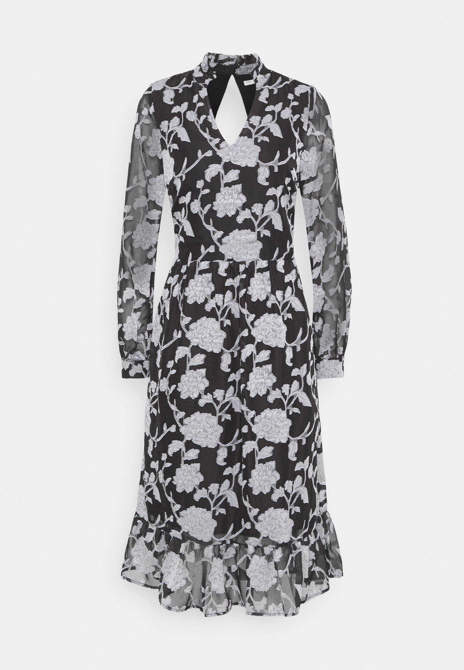 Women LCKRISTA DRESS - Day dress - black / white