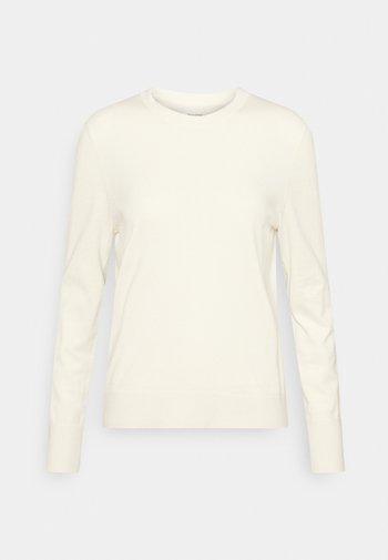 LONGSLEEVE ROUND NECK - Jersey de punto - raw cream