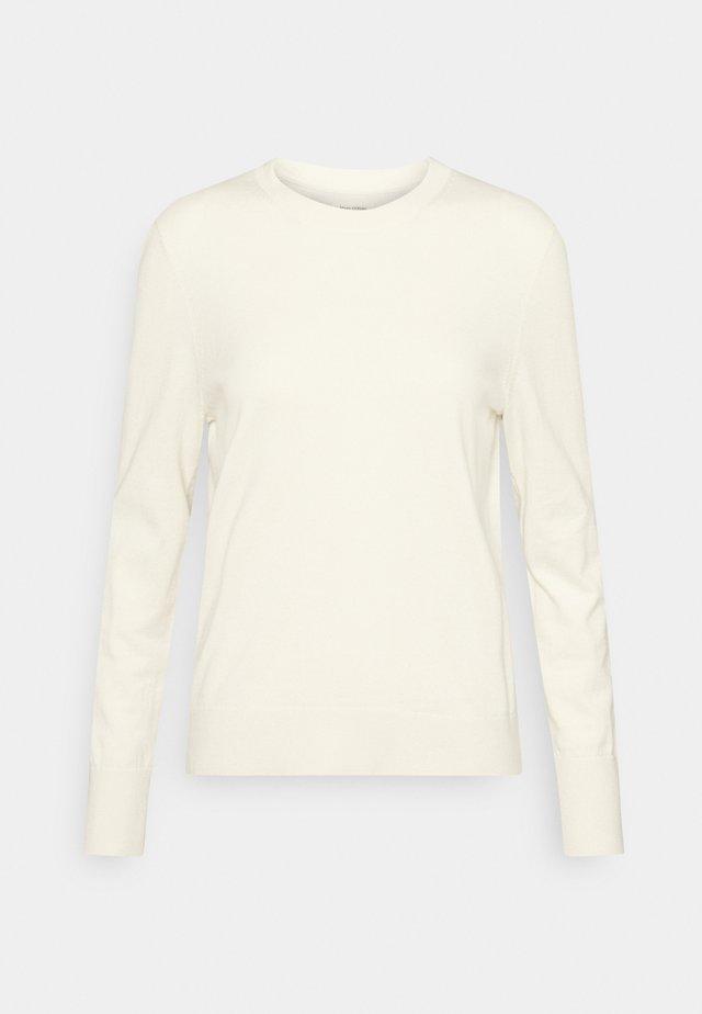 LONGSLEEVE ROUND NECK - Sweter - raw cream