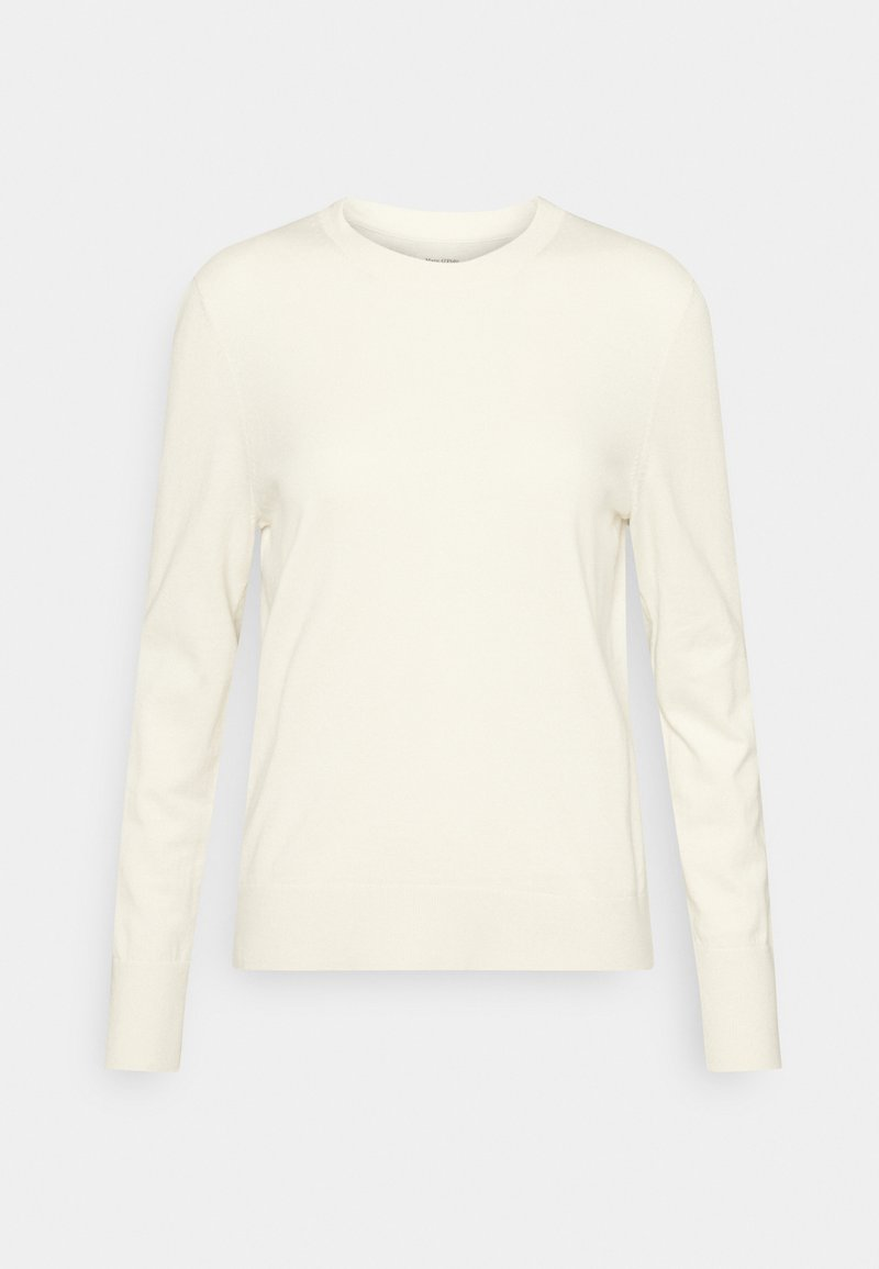 Marc O'Polo - LONGSLEEVE ROUND NECK - Jumper - raw cream