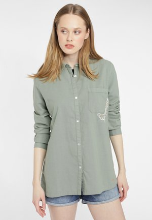 MORI - Button-down blouse - light green