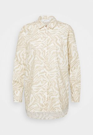 KACEE - Button-down blouse - beige/white