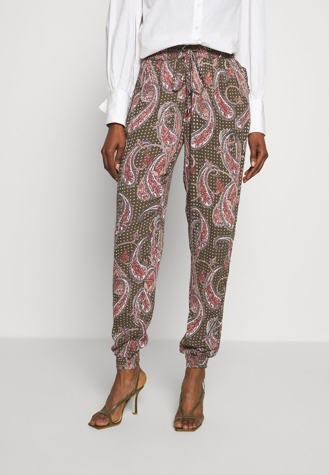 ROKA AMBER PANTS - Tygbyxor - grape leaf