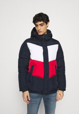 CHEVRON BLOCK - Down jacket - blue