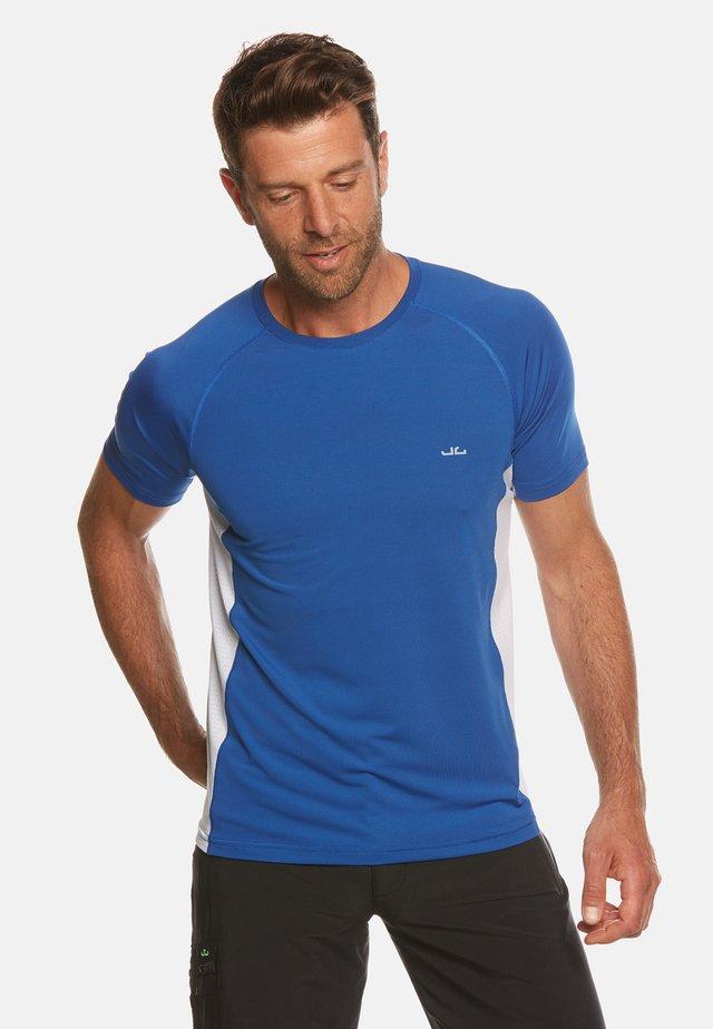 RIVARA - T-shirt print - blue/white