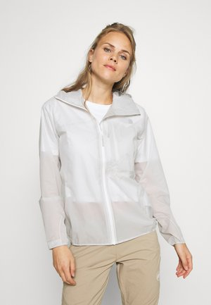 KENTO LIGHT HOODED JACKET WOMEN - Hardshell jacket - bright white