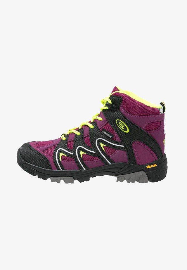 VISION  - Lace-up ankle boots - bordeaux/schwarz/lemon