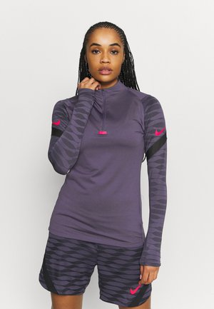 DRY STRIK - Camiseta de deporte - dark raisin/black/siren red