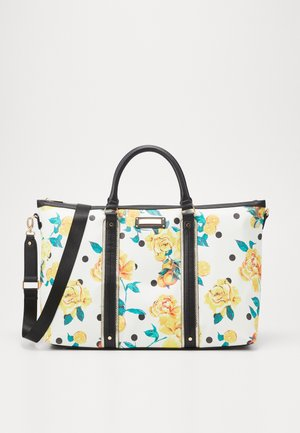 BLACK FLORAL HOLDALL - Weekend bag - black