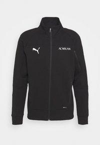Puma - AC MAILAND EVOSTRIPE JACKET - Club wear - black/red - 3