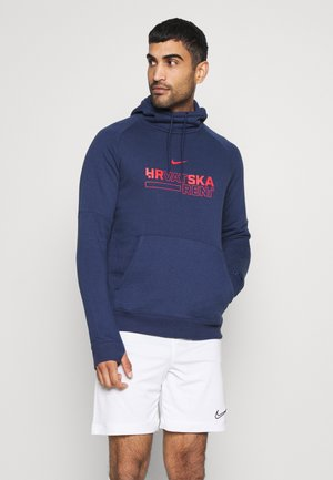 KROATIEN HOOD - Mikina - midnight navy/crimson